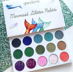 Тени для глаз Glamierre MERMAID GLITTER (18 цветов)