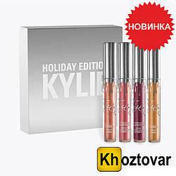 Набор матовой жидкой помады Кайли Kylie Holiday Edition 4 шт.
