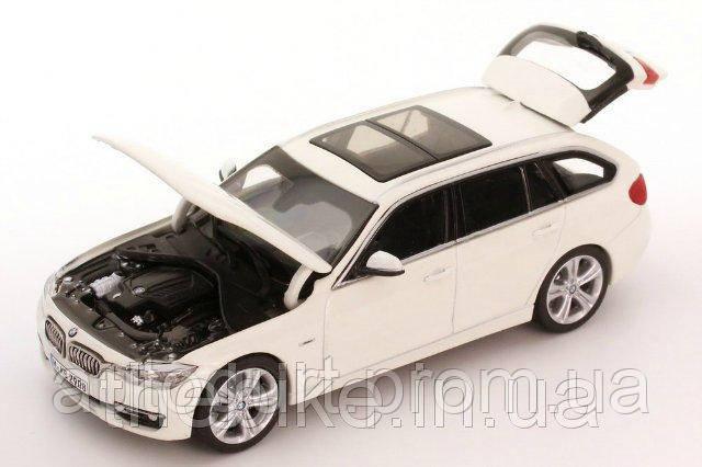 Модель автомобиля BMW 3 Series Touring (F31) White, Scale 1:43