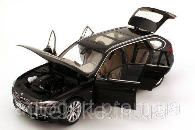 Модель автомобиля BMW 3 Series Touring (F31) Black Sapphire, Scale 1:18
