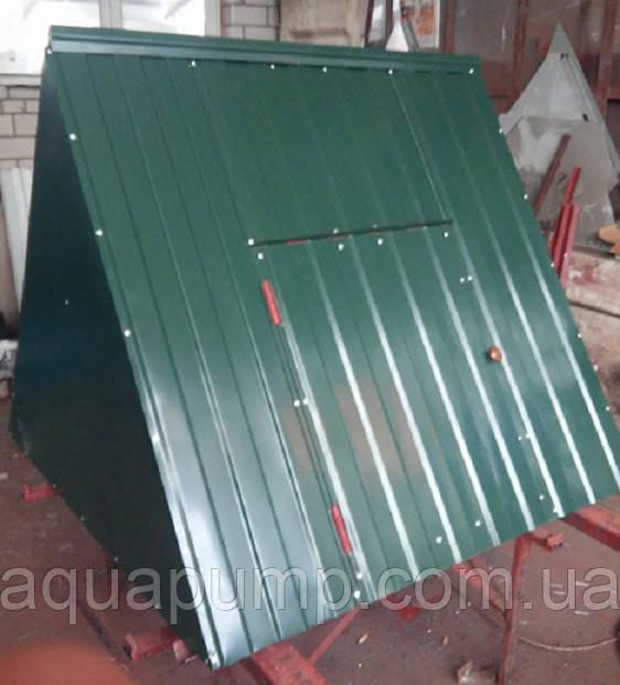 Крышка для колодца (диаметр кольца 1,2 м) зелёный глянец
