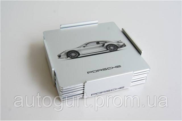 Подставки для бокалов под шампанское Porsche Glass Coasters Set of 6