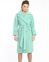 Женское пальто из кашемира букле 44-50р  мята