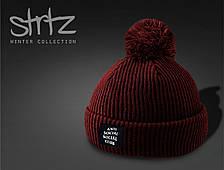 Стильная мужская шапка Anti social social club, шапка с бубоном ASSC