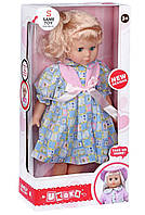Кукла Same Toy белое платье с голубым в клеточку 45 см (8010BUt-2)