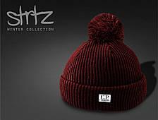 Стильная мужская шапка К.П. компания, шапка с бубоном C.P. Company