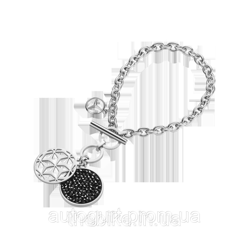 Женский браслет Mercedes Women's Bracelet Seoul, Silver / Black