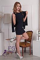 """Костюм """"Эсмик"""": платье+ жакет темно-синий, 42"""