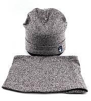 Оптом шапка детская 52 54 и 56 размер микро ангора с хомутом шапки головные уборы детские опт, фото 1