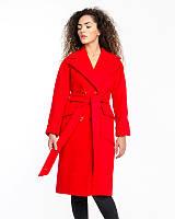 Женское пальто из кашемира букле 44-50р  красный