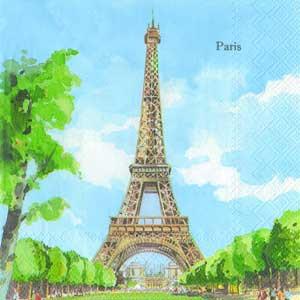 "Салфетка 33х33см (1шт) ""Эйфелева башня"""