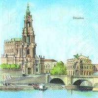 """Салфетка 33х33см (1шт) """"Дрезден"""" DRESDEN"""