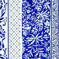 """Салфетка 33х33см (1шт) """"Вертикальные узоры"""" белый голубой"""