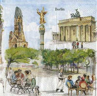 "Салфетка 33х33см (1шт) ""Берлин"" BERLIN"