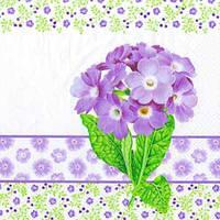 """Салфетка 33х33см (1шт) """"Примула"""" фиолетовый"""