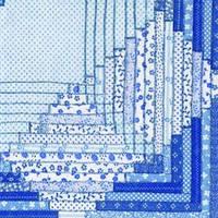 """Салфетка 33х33см (1шт) """"Узор в стиле """"Quilt"""" синий"""