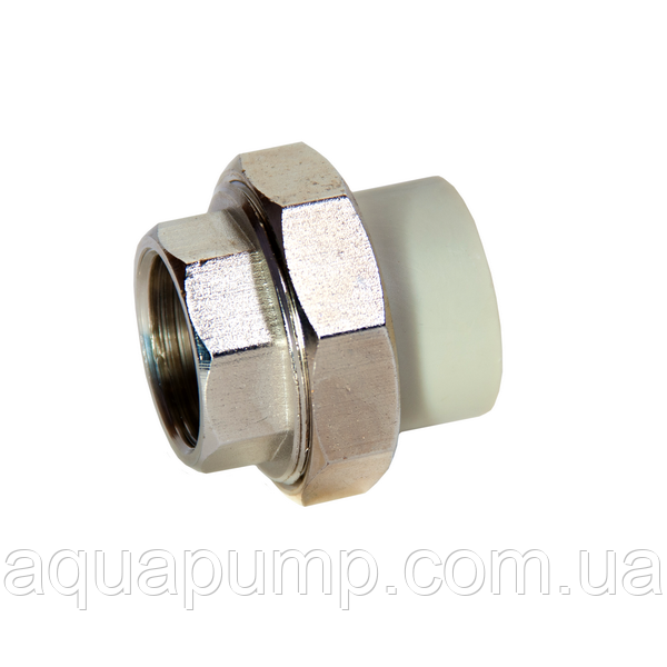 Муфта PPR разборная с ВР 40х11/4 60/15\5 GRE Aqua Pipe