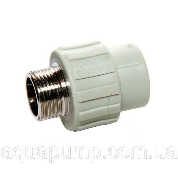 Муфта PPR с НР 32х1 100/10 GRE Aqua Pipe