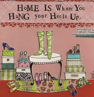 """Салфетка 25х25см (1шт) """" Дом это…""""(женские туфельки) шуточная, сюжетная"""