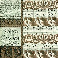 """Салфетка 25х25см (1шт) """"Опера Ринальдо"""" кремовый"""