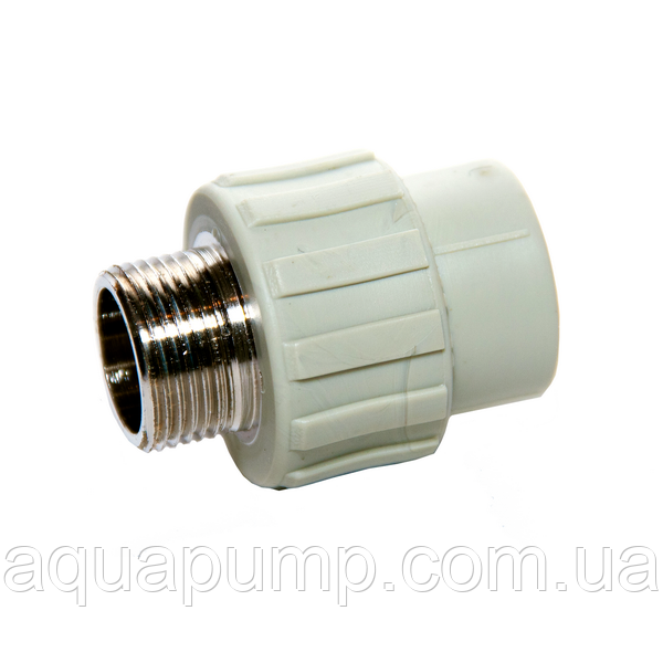 Муфта PPR с НР 40х11/4 60/6 GRE Aqua Pipe