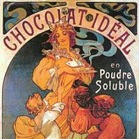 """Салфетка 25х25см (1шт) """"Ретрореклама горячего шоколада"""""""