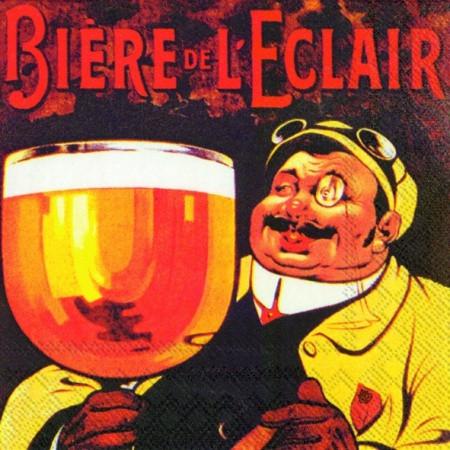 """Салфетка 25х25см (1шт) """"Пиво DE L'ECLAIR"""""""