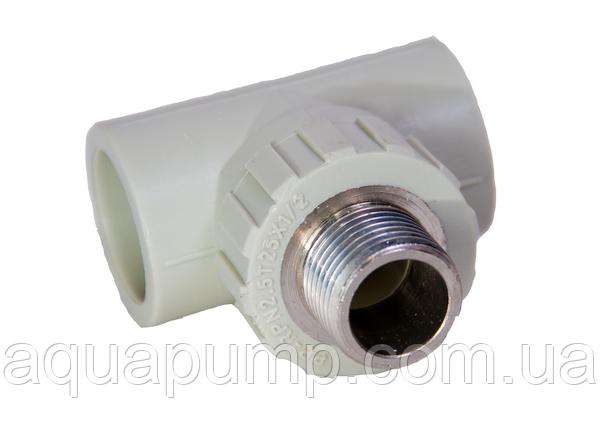 Тройник PPR с НР 25х1/2 250/25 GRE Aqua Pipe