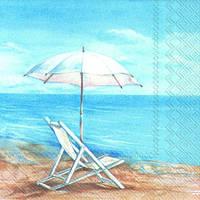 "Салфетка 25х25см (1шт) ""Море. Голубой горизонт"""