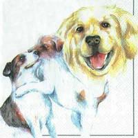 """Салфетка 33х33см (1шт) """"Собака и щенки"""""""