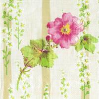 """Салфетка 33х33см (1шт) """"Весенний цветок"""" кремовый"""