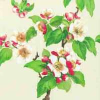 """Салфетка 33х33см (1шт) """"Яблоневый цвет"""" кремовый"""