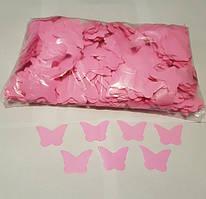 Конфетти бабочки розовые, 100 грамм