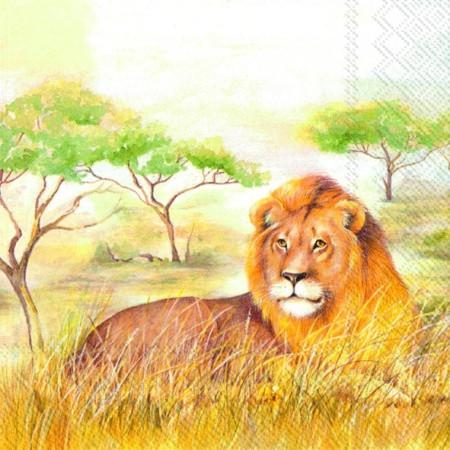 """Салфетка 33х33см (1шт) """"Царь зверей"""""""