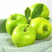 """Салфетка 33х33см (1шт) """"Зеленые яблоки"""""""