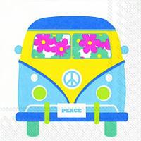 """Салфетка 33х33см (1шт) """"Цветочный автобус"""""""