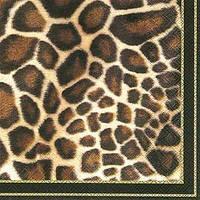 """Салфетка 33х33см (1шт) """"Животный принт (жираф)"""" черный"""