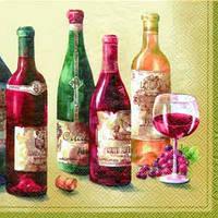 """Салфетка 33х33см (1шт) """"Вино.Grand Cru"""" кремовый"""