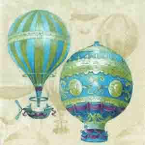 "Салфетка 21х21см (1шт.) ""Воздушный шар"""