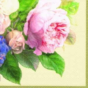 """Салфетка 33х33см (1шт) """"Волшебная роза"""" кремовый"""
