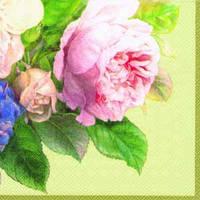 """Салфетка 33х33см (1шт) """"Волшебная роза"""" жемчужное шампанское"""