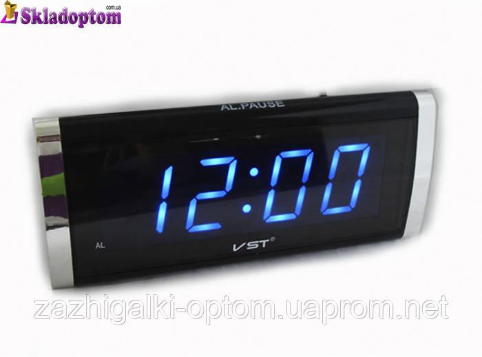 Часы сетевые 730-5 синие, 220W