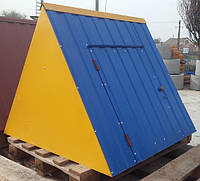 Крышка для колодца (диаметр кольца 1 м) жёлто-синий глянец, фото 1