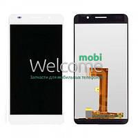 Дисплей (экран) + сенсор (тач скрин) Huawei Honor 6 H60-L02 white (оригинал)