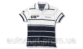 Мужская рубашка-поло BMW Men's Yachting Polo Shirt White Blue