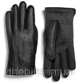 Мужские кожаные перчатки Audi Sport Leather Gloves Black 2015