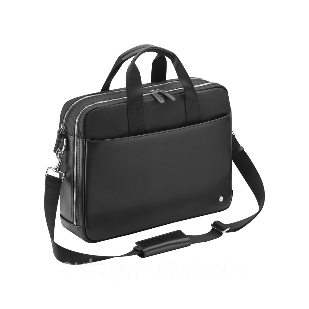 Мужская деловая сумка Mercedes-Benz Men's Business Bag Black, Leather / Nylon