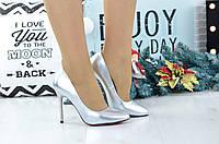 Женские серебристые туфли 3616