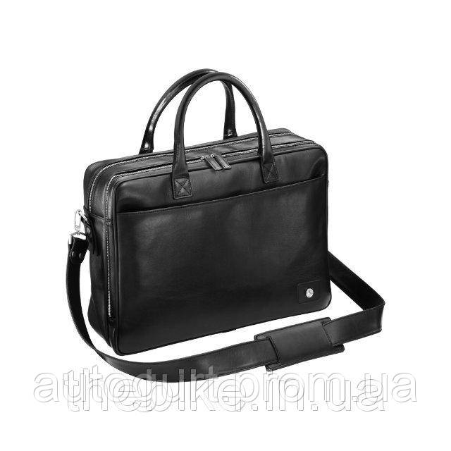 Кожаная сумка в деловом стиле Mercedes-Benz Leather Business Bag Black