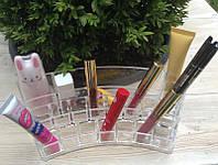 Пластиковый органайзер закругленный / бокс / подставка для косметики , фото 1